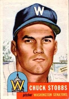 Chuck Stobbs's 1953 Topps Baseball Card