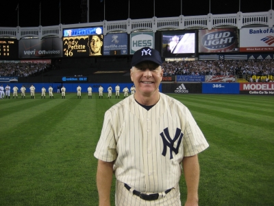 David Mantle in centerfield during the pre-game ceremony (look like someone familiar?)
